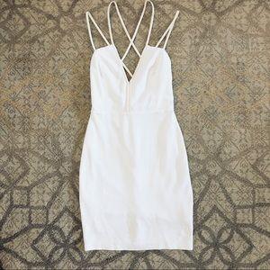 4th of July White Mini Dress